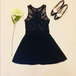 ‼️FOREVER 21 Women's Black Sheer Lace Dress